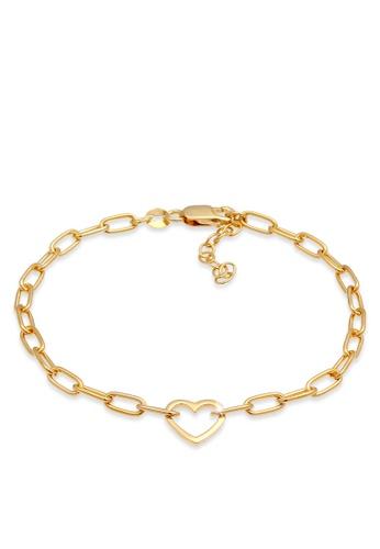 ELLI GERMANY gold Heart Link Chain Oval Bracelet 66008ACBAF0747GS_1