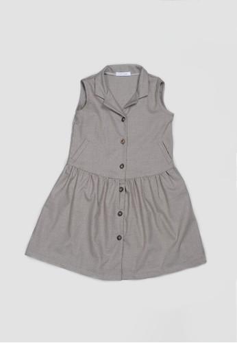 Veyl brown Veylkids Ellyse Dress Brown 43504KAD3BF56AGS_1