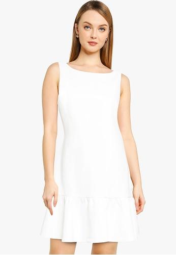 Forever New white Pixie A-Line Frill Mini Dress E24D5AA0ADE50FGS_1