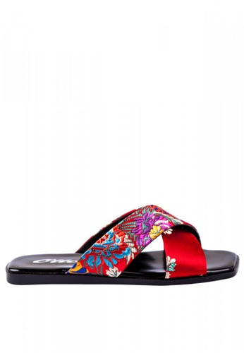 372a93d35 Shop Otto Cross Over Embroidered Slide Sandals Online on ZALORA Philippines