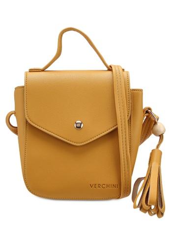 Verchini yellow The Square Sling Bag 4CB21ACC59F15CGS_1