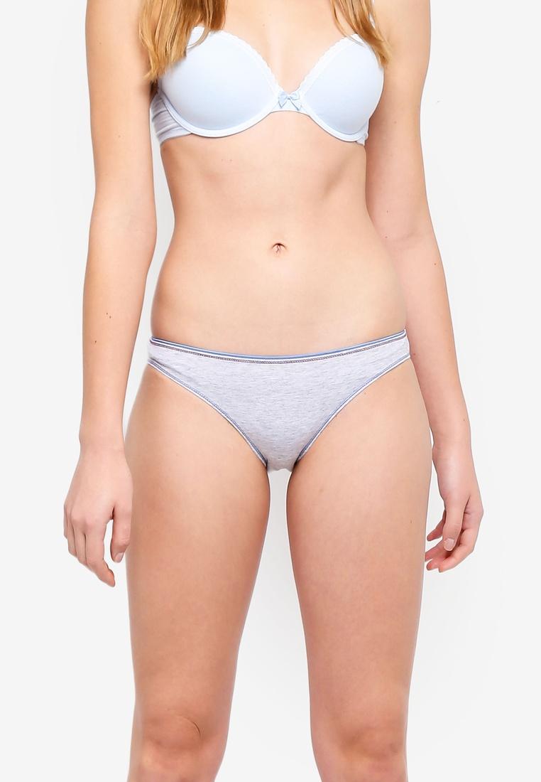 Grey Bikini 6IXTY8IGHT Lazy Back Sloth Briefs qrtaXx8rw