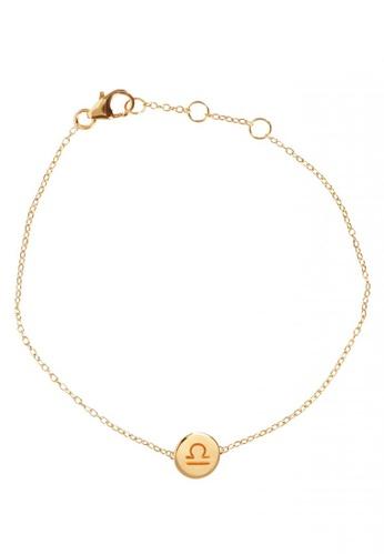 RAM Jewelry gold Zodiac Bracelet - Libra E61EFAC2C6E037GS_1