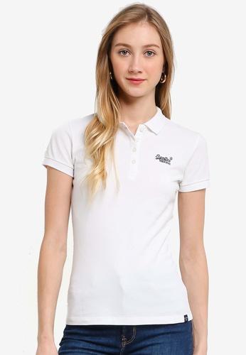 Superdry white Organic Cotton Polo Shirt - Original & Vintage 62931AA7DC657BGS_1