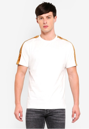 Topman 米褐色 刺繡T恤 C266DAA3C97067GS_1