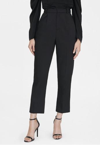 Pomelo black Tailored Cigarette Pants - Black BED9EAA965BFACGS_1