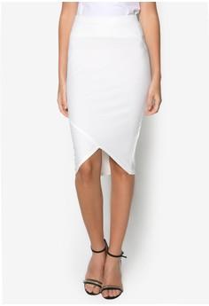 Bandage Asymmetric Hem Midi Skirt