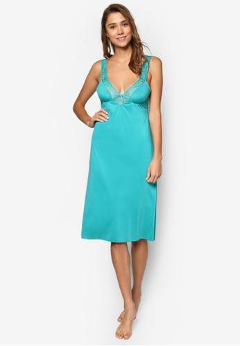 蕾esprit官網絲寬肩帶睡裙, 服飾, 睡衣, 睡裙和連身內衣