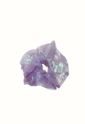 PINK N' PROPER 紫色 巨型彩虹网纱大肠发圈 D7A65ACC897A4EGS_1