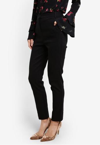 WAREHOUSE black Textured Slim Leg Trousers WA653AA0SBZYMY_1