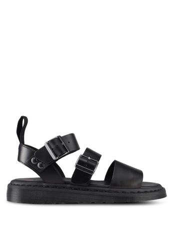 Dr Sandals 1 Fusion Shore Strap black DR086SH0SX5HMY Martens Gryphon rqHnfrP