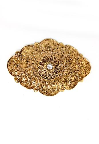 Paulini silver and gold Brooch Rahimah (M) PA011AC53XVMMY_1