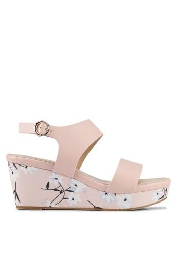 VINCCI pink Strappy Wedges 68ED3SH98E901DGS_1