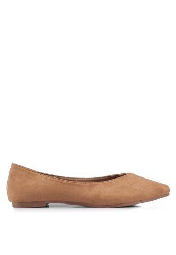 Rubi 褐色 Valerie V Topline Point 平底鞋 B259DSH3D32378GS_1