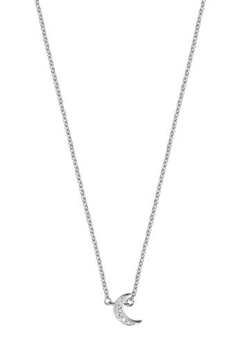 Esprit silver ESPRIT [Moon Pave] Silver Sterling Silver Necklace (42 cm + 3 cm extension) 31706ACB8D9922GS_1