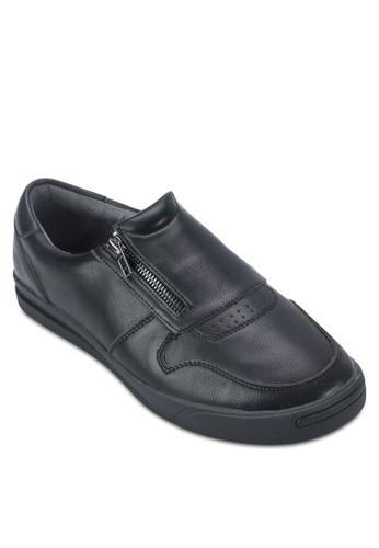 仿皮拉鍊休閒鞋, 鞋,zalora鞋 休閒鞋