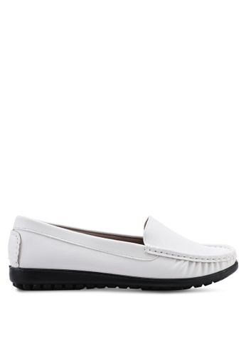 Louis Cuppers white Round Toe Loafers 746C2SHF13A8C0GS_1