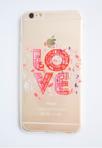 Fancy Cellphone Cases multi Love Transparent Soft Case for iPhone  6 plus/ 6s plus FA644AC27FUYPH_1