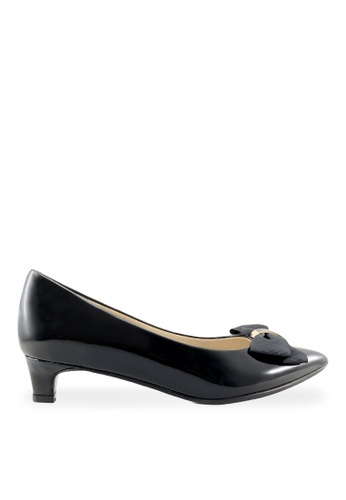Footspot black FOOTSPOT – Pointed Toe Flat Shoes with Bows FO296SH2UVPSHK_1