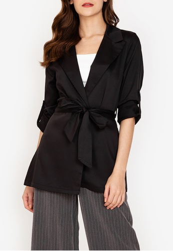 ZALORA WORK black Self Tie Blazer 0BDF3AAE32264EGS_1