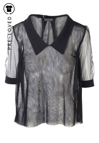 Anteprima black Pre-Loved anteprima See Through Polo Top BB751AACF0DC8BGS_1