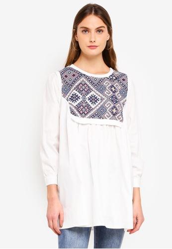 Haute Kelly white He-Ran Oversize Shirt 83D51AAD0694EFGS_1