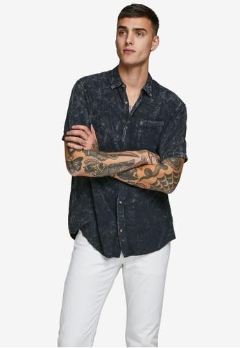 JACK & JONES black Bailey Short Sleeve Shirt 121D4AA070BBEFGS_1