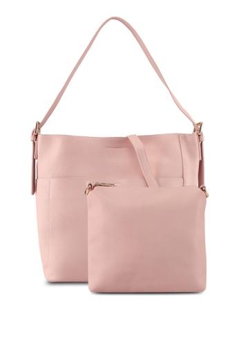 Perllini&Mel pink Faux Leather Single Handle (Bag-In-Bag) 8C4A6AC0069F39GS_1