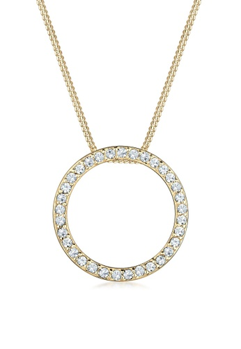 ELLI GERMANY gold Necklace Gold Plated Circle Crystal DEA02AC6CAF3D9GS_1