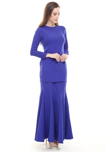 Rina Kurung in Royal Blue from Rina Nichie Basic in Blue