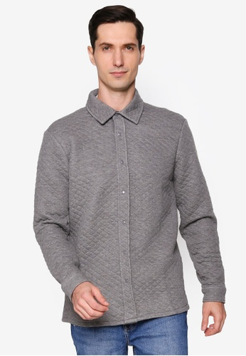 Only & Sons grey Casual Over Shirt 76822AAE154421GS_1