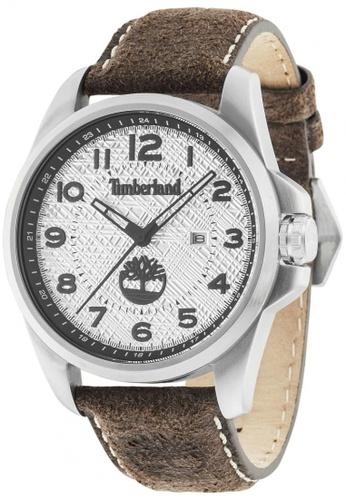 Timberland brown Leyden TBL.14768JS/04 Dark Brown Leather Strap Men Watch TI063AC25TTQMY_1