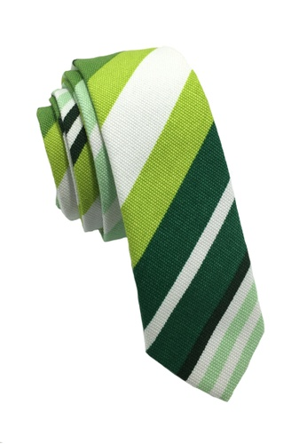 Splice Cufflinks Potpurri Series Greens & White Cotton Tie SP744AC64QNFSG_1