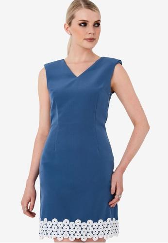 Paper Dolls blue Blue Mini Lace Shift Dress ACD4FAAA3A03E5GS_1