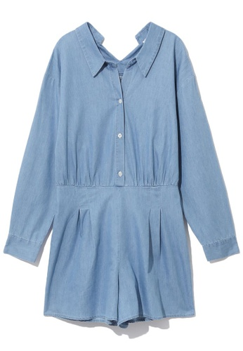 b+ab blue Chambray jumpsuit 28BE6AA6D88289GS_1