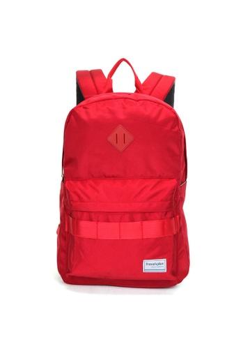 Travel Plus red SlimpSlimp Laptop Backpack 48803AC7978F54GS_1