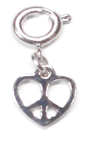 My Flash Trash silver Peace heart charm C7EADAC4406733GS_1