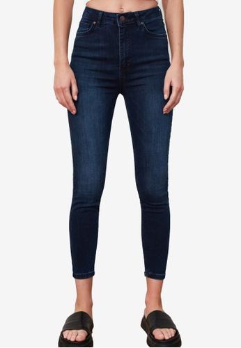 Trendyol navy High Waist Skinny Jeans AE641AAFAC8DF0GS_1