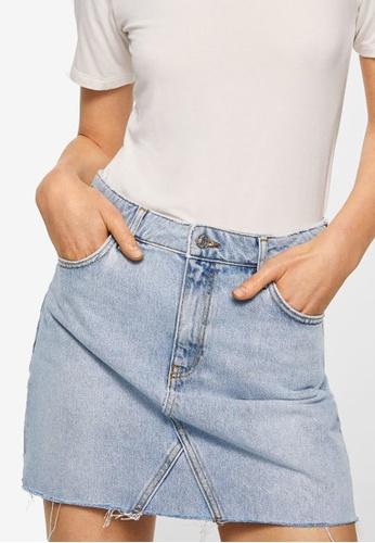 Mango blue Denim Organic Cotton Skirt D5735AAA2B8C5CGS_1