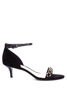 1b9d919c110 Nine West black Lioness Heeled Sandals 7DB3ESHDA45FA9GS 1
