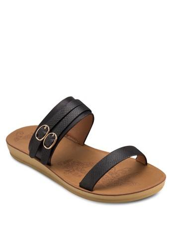雙扣環平zalora 泳衣底涼鞋, 女鞋, 鞋