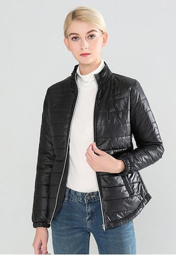London Rag black Puffer Jacket With Zipper Closure CBFAFAA69AB7E2GS_1