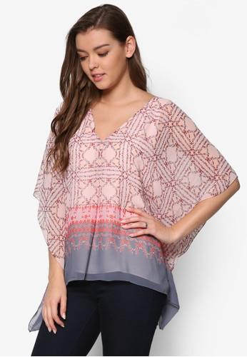 印花喇叭寬袖T-shirt、 服飾、 上衣MaxStudio印花喇叭寬袖上衣最新折價