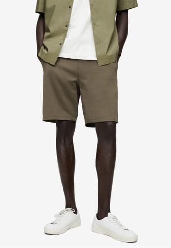 MANGO Man green Organic Cotton Jogging Bermuda Shorts F2162AA8B432EAGS_1