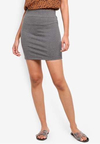 ZALORA BASICS grey Basic Bodycon Mini Skirt 5D0C1AA0F23077GS_1