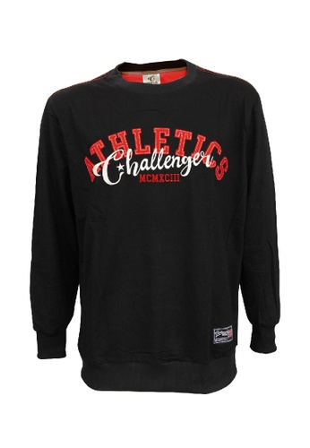 Challenger black Challenger Big Size Long Sleeve Sweater With Emb 0XL-6XL Plus Size CH7016 (Black) 16B1BAAC26EFA3GS_1