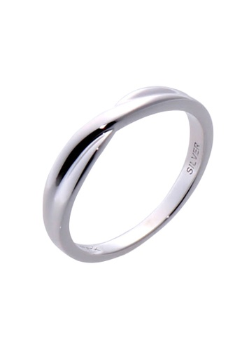 The LoveMark silver Crossing Paths Ring for Men lr0043m TH516AC61VBEPH_1