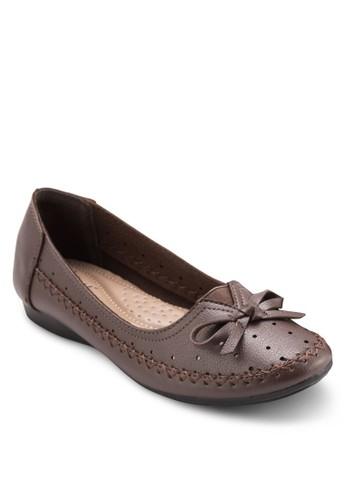 蝴esprit香港分店地址蝶結沖孔平底鞋, 女鞋, 芭蕾平底鞋