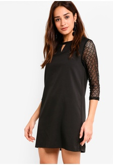 50feb36777d Lace Sleeves Dress 3B6FAAACAF2A17GS 1