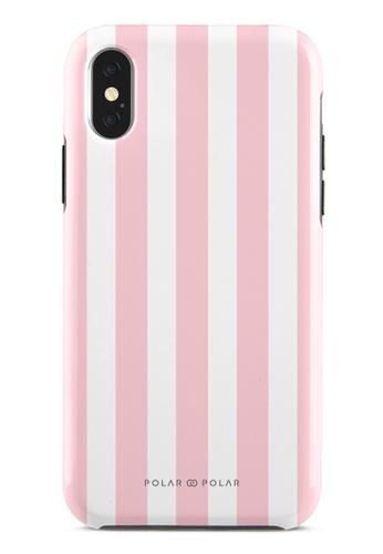 Polar Polar pink Baby Pink Stripe Dual-Layer Tough Case Glossy For iPhone X / XS D4383ACF51C831GS_1